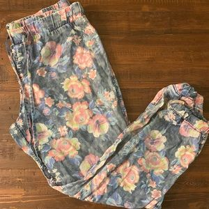 FLORAL CROPPED JOGGER STYLE PANT🌸🌺